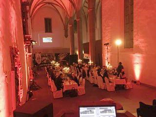 Beleuchtungskonzept, umgesetzt in der Brüderkirche